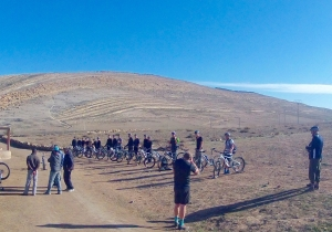 AXS large group ride in the atlas mountains