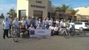 Team from Charity ride of Le Meridien