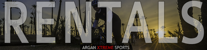 Photo of person on bike in backrgound Bike hire and rental in Marrakech from Argan Sports