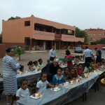 Photo of Argan Sports serving dinner to less fortunate kids during the 30 days of the Ramadan Fasting