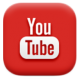 A logo saying follow us on > YouTube