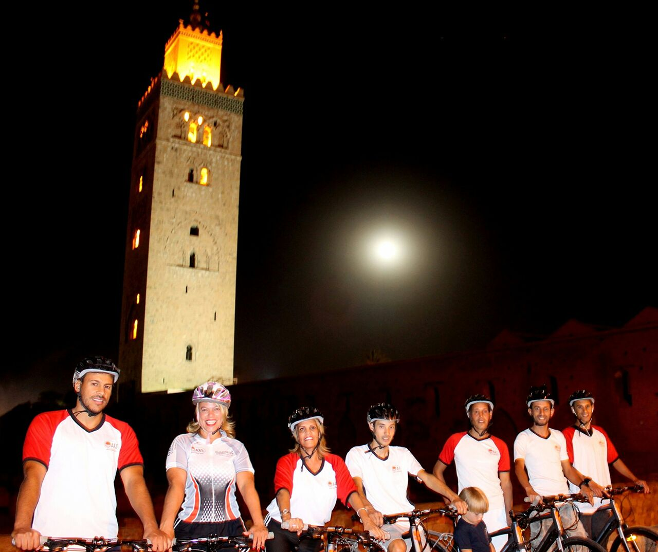 Photo of AXS night bike tour in front of Koutobia Mosque