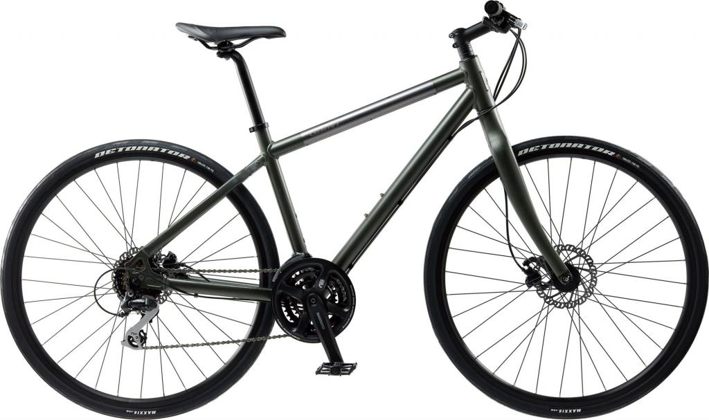 Photo of grey seek 3 flat bar road bike used by Argan Sports
