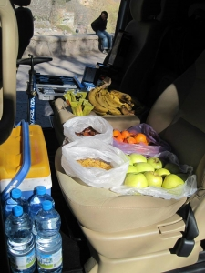 Photo of the Argan Sports van filled with spares and too