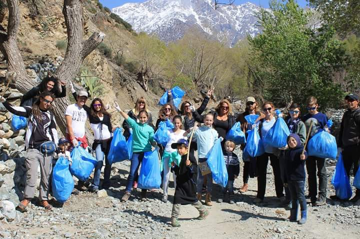 Argan Sports Hikers in the Atlas Mountains doing a cleanup